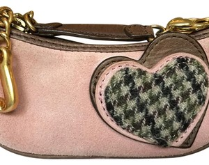 Juicy Couture Vintage Bright Mini Wristlet in Rose, Pink, Brown, Gold