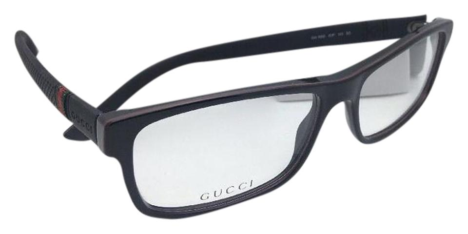 49f6340aac79c Gucci New Rx-able Gg 1066 4up 56-16 Black Frame W  Red Green Stripes ...