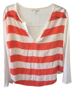 Ella Moss Top White/Coral