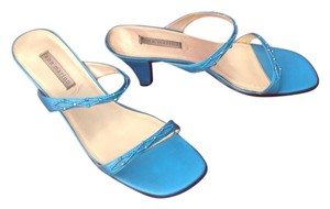 Ann Marino Formal Spring Colorful Turquoise Mules