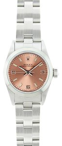 Rolex Rolex Oyster Perpetual Salmon Arabic Dial Midsize Ladies Watch 67480
