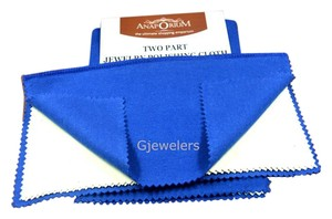 Blue Polishing Cloth Blue Polishing Cloth For Jewelries Gold Silver Metal 10