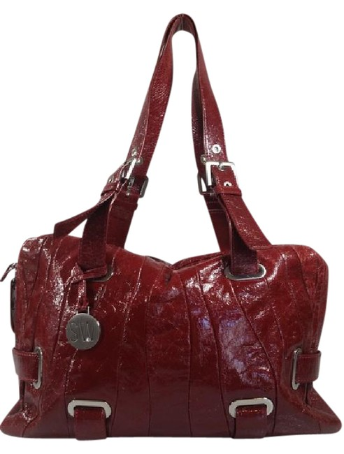 Item - Large Red Leather Satchel