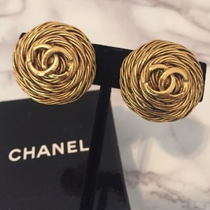 Chanel Chanel Vintage Logo Earrings