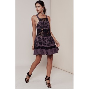 For Love & Lemons Lace Lbd Sexy Embroidered Embellished Dress