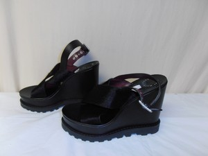 Marc by Marc Jacobs Designer Wedge Cow Fur New Without Box black Sandals