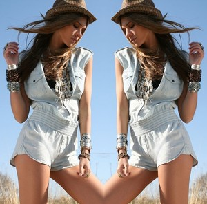 7 For All Mankind Button Up Romper Denim Dress
