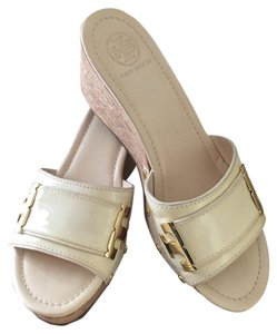 Tory Burch Cream White Wedges
