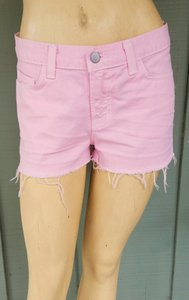 J Brand Denim Cut-off Frayed Cut Off Shorts Pink