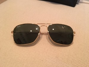 Ray-Ban Gold Caravan Sunglasses