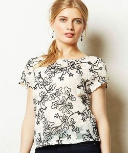 Anthropologie Top White/Black