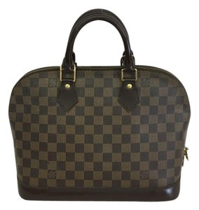 Louis Vuitton Lv Alma Pm Damier Ebene Tote in brown