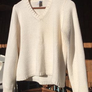 Gap Knit White White Heavy Sweater