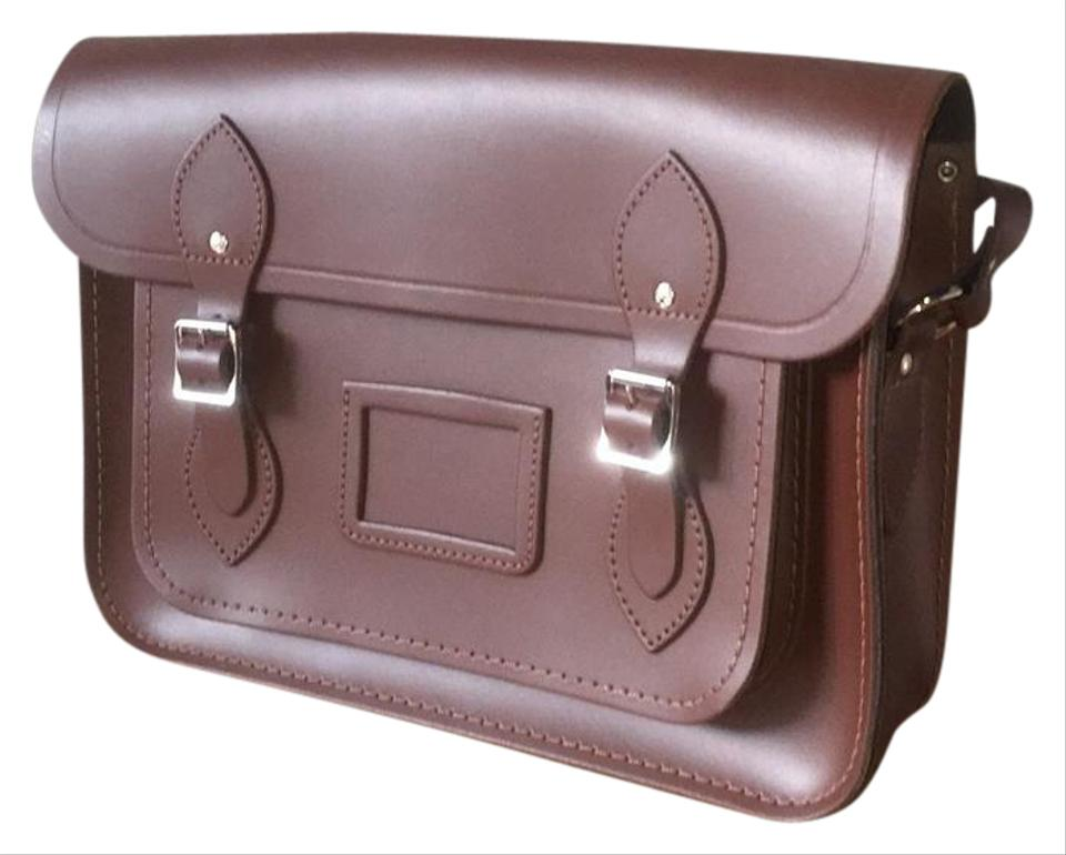 The Cambridge Satchel Company Cross-body Leather Old-fashioned Chocolate  Messenger Bag ... 8ba244cd0ac7