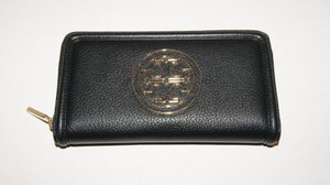 Tory Burch Tory Burch AMANDA Zip Continental Black Leather Wallet