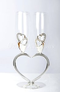 Heart Shaped Toasting Glasses
