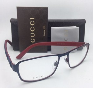 Gucci New GUCCI Eyeglasses GG 2271 M5I 56-17 Matte Blue on Red Frame