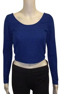 Material Girl Top Blue