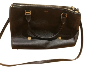 Ralph Lauren Leather Gold Brand New Satchel in black