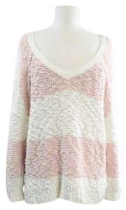 Free People Slouch Striped Cozy Lounge Sweater