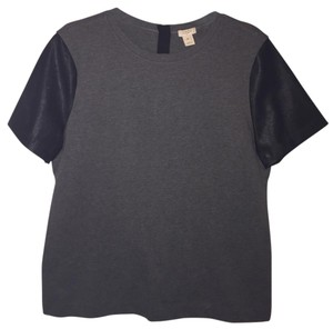 J.Crew T Shirt Grey and black