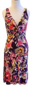Pink red yellow Maxi Dress by Velvet by Graham & Spencer Dry Clean Made In Usa