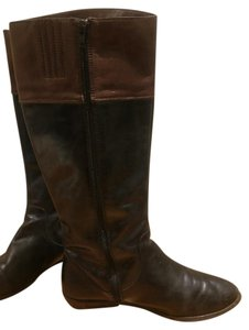 Seychelles Riding Boot Leather Two Tone black and brown Boots