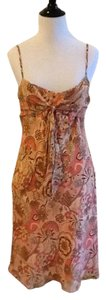Ann Taylor LOFT short dress peach, yellow, red, pink Dry Clean Made In China 100% Silk Lining on Tradesy