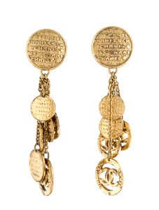 Chanel Vintage CHANEL CC CHANDELIER EARRINGS