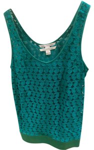 Diane von Furstenberg Dvf Silk Night Out Top turquoise