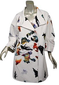 ENDEHOR Fish Duster Coat White with Multi Color Jacket