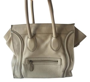 Céline Celine Luggage Tote in Beige