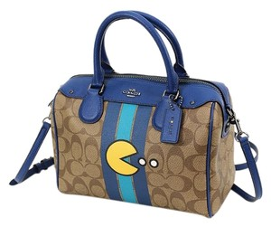 Coach Pac Man Limited Edition Satchel in Brown and Blue
