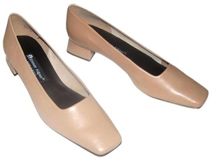 Etienne Aigner Leather Taupe Pumps