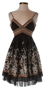 BCBGMAXAZRIA Silk Floral Chiffon Dress