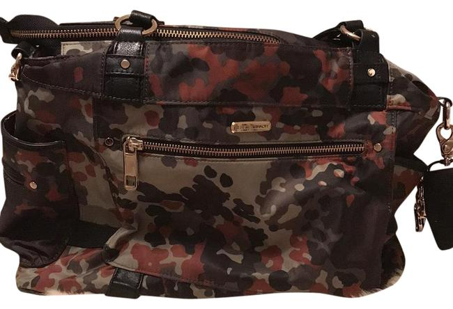 Item - Camo Weekender/ Tote Camo(Green/Rust/Black) Nylon/Leather/Gold Detail Diaper Bag