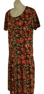 Laura Ashley Vintage Midi Floral Spring Dress
