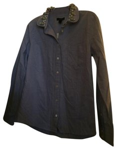 J.Crew Novelty Button Down Shirt Blue