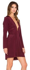 Rory Beca short dress Burgundy Nasty Gal Intermix Sexy on Tradesy