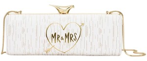 Kate Spade Bridal White + Gold Clutch
