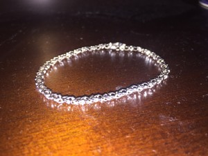 Fine Jewelry Vault 1 CT CZ Tennis Bracelet on White Gold