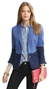 Banana Republic Blue Colorblock Blazer
