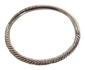David Yurman David Yurman Cable Sterling Silver Hinge Bangle Bracelet