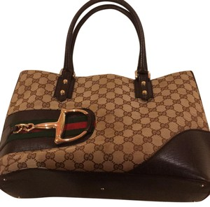 Gucci Satchel in Brown With Light Brown