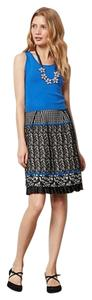 Anthropologie short dress Blue Wool Blend Jacquard on Tradesy