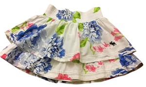 abercrombie kids Floral Summer Mini Skirt white, multicolor