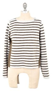Madewell Striped Ribbed Knit Contrast Panel Sweater