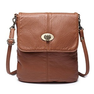 Hynes Victory Retro Casual Washed Leather Cross Body Bag