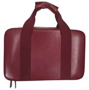 Robert Clergerie Leather Satchel in red