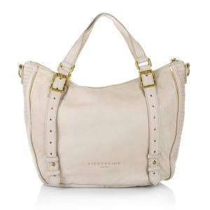 Liebeskind Anthropologie Leather Beige Satchel in Cream